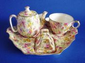Superb Royal Winton 'Estelle' Chintz Countess Breakfast Set on Tray c1950